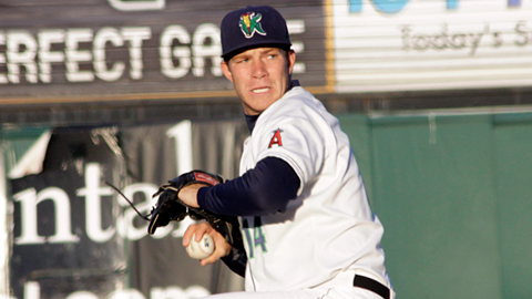 The Kernels' Austin Wood has 15 strikeouts in his first 10 Midwest League innings.