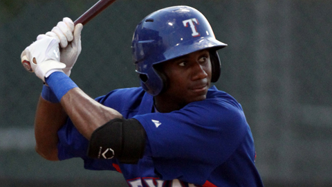 Lewis Brinson was the 29th overall selection in the 2012 Draft.